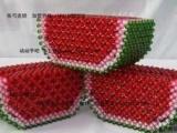 串珠--西瓜纸巾盒