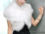 仿狐狸毛坎肩马甲超气质 短款皮草外套上衣立领女士背心 多色特价