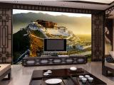 厂家供应佛山彩雕电视背景墙瓷砖精雕幻彩 布达拉宫 陶瓷壁画