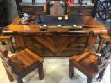 老船木茶桌茶台椅组合古船木功夫中式茶几沉船木客厅家具特价