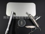 三件套野营套装 户外组合工具 多用刀钳指南针电筒