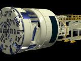 上海地铁盾构机三维动画设计/工业动画片/工艺流程动画/施工动画