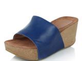 天天限量购 欧美真皮罗马坡跟女凉拖鞋 松糕厚底时尚防水台鱼嘴鞋