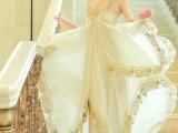 咔妮依 超重手三层亮片刺绣花朵时尚连衣裙 吊带长裙
