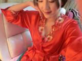 女士性感睡衣 夏季蕾丝诱惑吊带睡裙套装 丝绸大码睡袍两件套批发