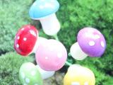 仿真小蘑菇 迷你小蘑菇 泡沫小蘑菇 尺寸15*22MM  8色可