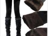 海狸珍珠绒 不起球 双层 加厚保暖裤配短裙靴子打底裤 批发