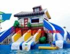 大型陆地闯关水上冲关充气城堡水滑梯鲸鱼岛乐园支架游泳水池