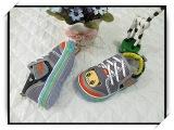庆亿童鞋批发 2014秋季新款男童单鞋 魔术贴女童帆布鞋s817