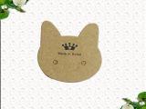 现货通用吊牌 韩文衣服商标 服装饰品卡标签 牛皮纸吊牌订做