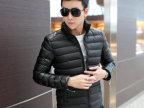 13冬装新款韩版修身男士羽绒棉衣潮拼皮撞色保暖加厚棉袄外套批发