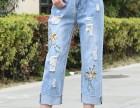 夏季牛仔裤批发品牌女装 贵州毕节五元牛仔裤批发尾货处理直销