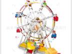 较新款 动态合金拼装旋转摩天轮 七彩闪光音乐盒 DIY创意拼装玩具