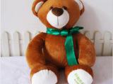 厂家定制毛绒玩具泰迪熊时尚公仔 企业宣传礼品 公司吉祥物