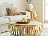 简约现代实木圆形铁艺茶几客厅尊贵茶桌沙发