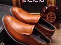 广东鹤山男鞋工厂专业生产品牌休闲手工皮鞋商务正装皮鞋贴牌加工