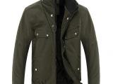 2014新款加厚加绒夹克 男式纯棉水洗夹克 宽松加大男外套直销