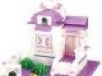 小鲁班积木 粉色家园/夫妻甜蜜小屋 启蒙儿童拼装玩具 拼插玩具