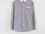 特价批发 2014春季新品 外贸原单-男士纯棉细条纹休闲长袖衬衫