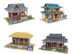 乐立方 3D 立体拼图 世界风情韩国DIY小屋建筑 纸质 早教益智玩具