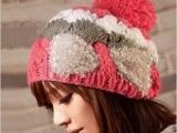 韩版 珍珠毛线帽可爱秋冬天帽子女款韩国韩