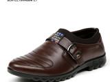 温州鞋厂直销正装真皮男士皮鞋牛皮懒人男鞋透气软底单鞋批发