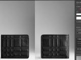 时尚全牛皮男士折叠短款钱包