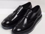 P家英伦时尚布洛克雕花气垫厚底松糕鞋复古真皮系带广州男鞋板鞋
