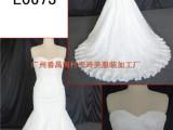 L0673修身显气质鱼尾蕾丝礼服 经典米色婚纱 精美欧美原款婚纱