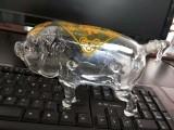 老母猪造型工艺酒瓶吹制白酒瓶生肖玻璃猪猪酒瓶空心大猪造型酒瓶