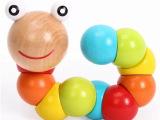儿童动手玩具 百变扭扭虫 木制毛毛虫益智玩具1-2-3岁宝宝