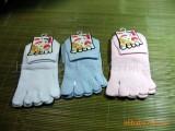 厂家直销女式中筒、有跟、抗菌、防臭素色五指袜
