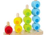 数字堆堆乐寸木叠叠乐儿童玩具木制串珠分类宝宝益智力早教玩具