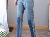 上海七浦路时尚杂款牛仔裤批发厂家直销低价一手货源服装5元牛仔