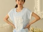 2014韩版夏装新款蝙蝠袖蕾丝上衣宽松T恤打底衫女