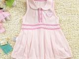 卖场特价童装女童裙子批发 小孩纯棉连衣裙 婴童夏装短袖背心裙