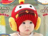 冬季婴儿帽子 韩版宝宝帽 男童女童保暖毛线帽 儿童加绒帽子爆款