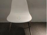 白色休闲椅时尚咖啡厅椅塑钢椅批发招待会用椅餐厅椅会议椅厂家
