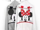 2013春装新款 米奇米 米老鼠款 可爱老鼠耳猫薄卫衣
