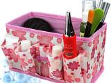 创意可折叠化妆品收纳盒 桌面首饰储物盒 小物多功能收纳袋