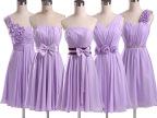 伴娘礼服紫色伴娘服短款姐妹裙显瘦晚礼服聚会宴会舞会小礼服秋冬