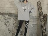 2015春韩版最新款全棉印花小脚裤裤 女式加厚高弹修身打底裤