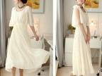 新款纯色波西米亚大摆连衣裙 二种穿法沙滩长裙
