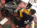 武汉改色电动摩托车改色个性SYM厦杏三阳