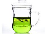 厂家直销 果汁玻璃杯带盖透明过滤水杯 办公室创意花草茶杯