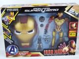 万圣节面具 钢铁侠3套装面具 儿童动漫卡通面具 钢铁侠玩具