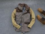 外贸男士棉衣 毛呢条绒拼接 男休闲棉服 修身时尚 撞色男冬衣