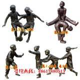 雕塑-儿童玩陀螺雕塑景观小品