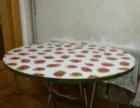 纯木头可折叠圆饭桌出售,结实耐用。