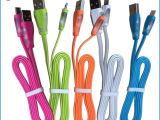 水晶发光面条线micro USB手机数据